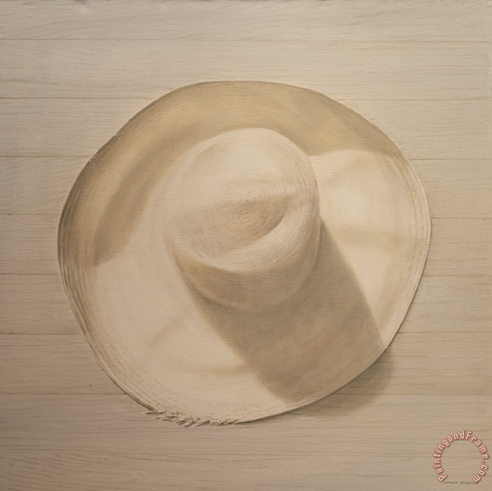 Travelling Hat On Dusty Table painting - Lincoln Seligman Travelling Hat On Dusty Table Art Print