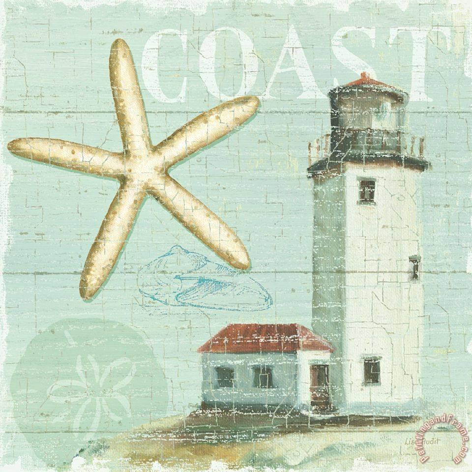 Lisa audit beach house ii painting beach house ii print for Beach house prints