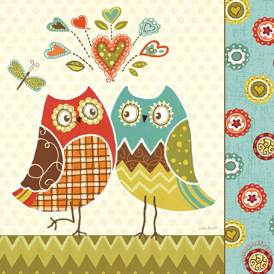 Lisa audit owl wonderful ii painting owl wonderful ii - Cuadros posters laminas ...