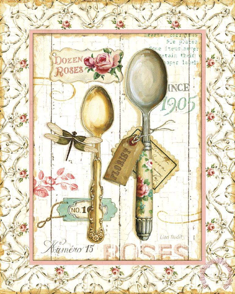 Lisa audit rose garden utensils ii painting rose garden - Cuadros posters laminas ...