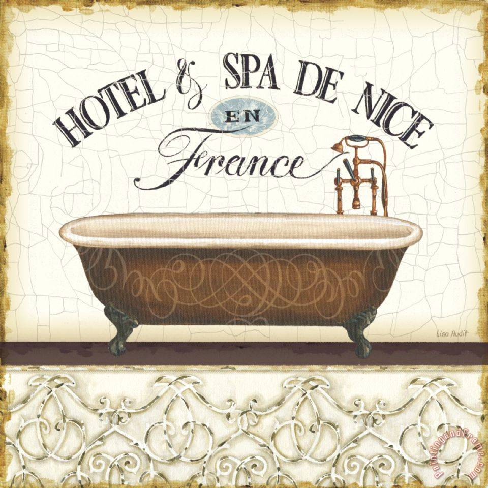 Bathroom Art Vintage: Lisa Audit Spa And Resort II Painting