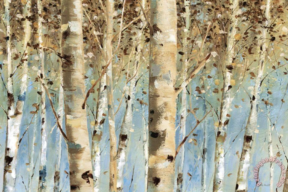 White Birch Tree Oil Painting