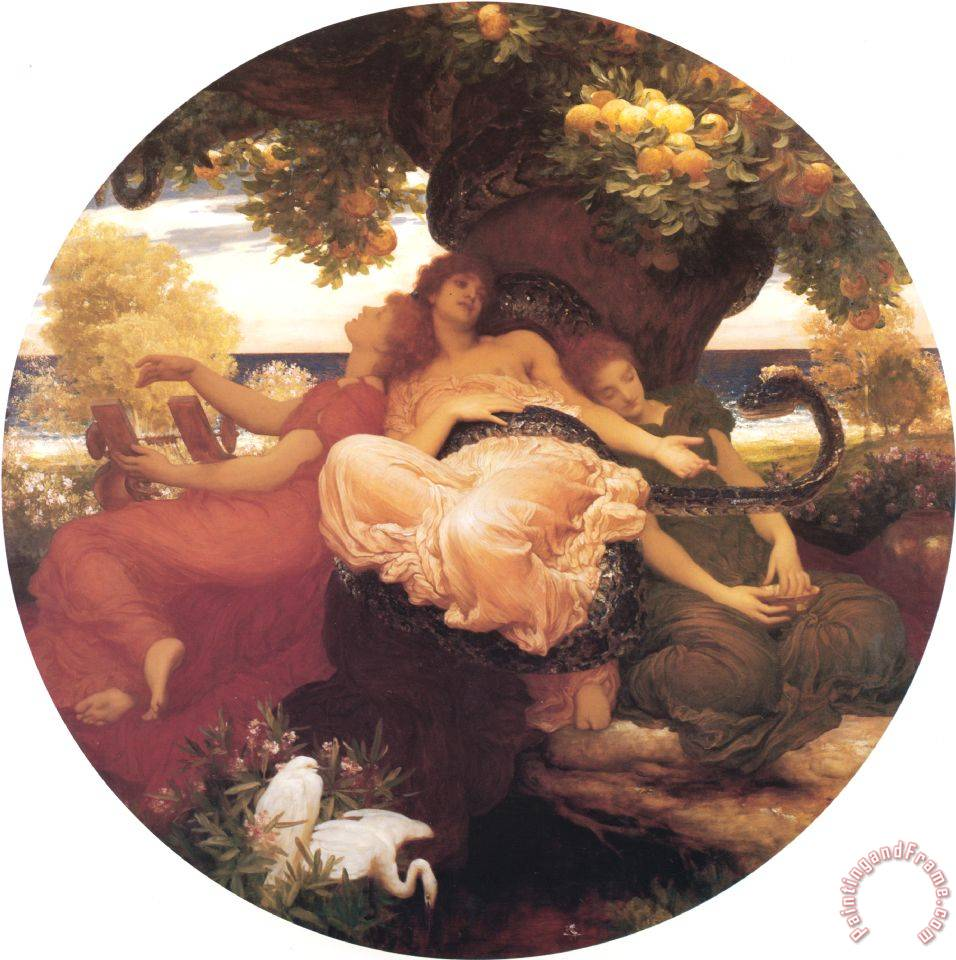 Lord Frederick Leighton The Garden of The Hesperides Art Print