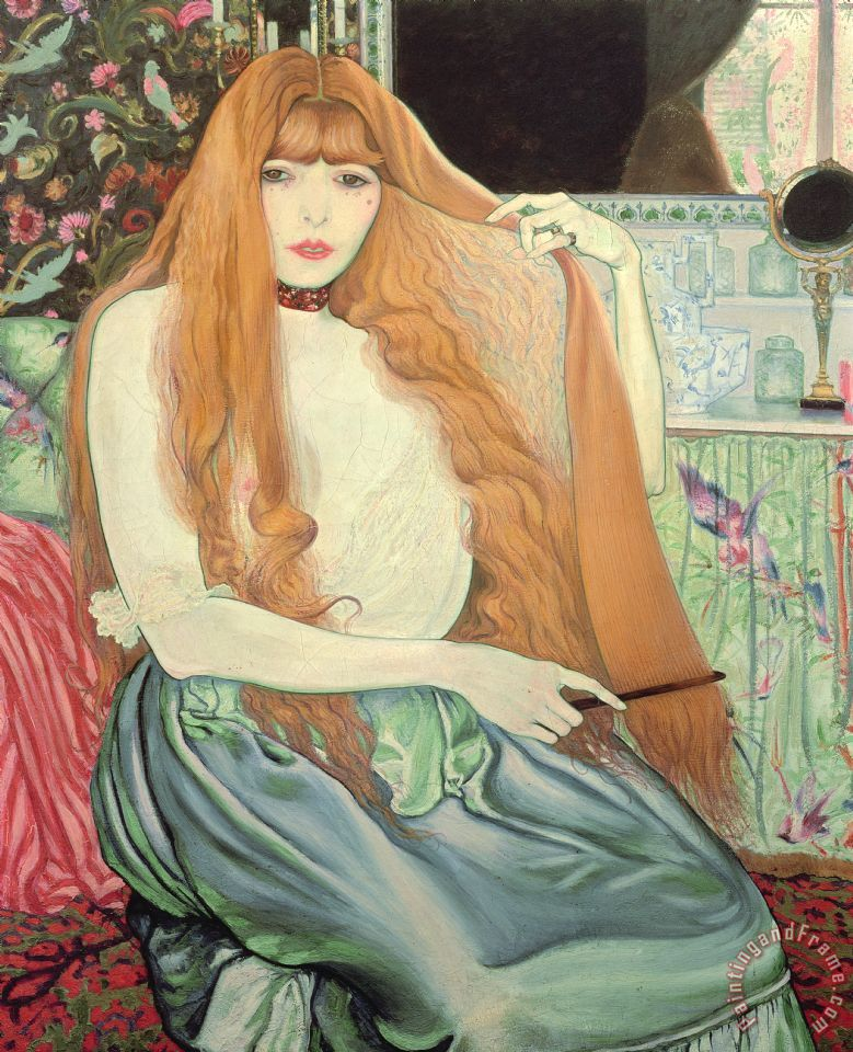 Woman Combing Her Hair painting - Louis Anquetin Woman Combing Her Hair Art Print