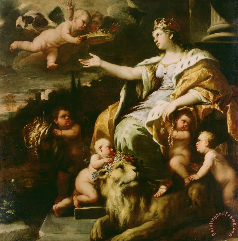 Allegory of Magnanimity painting - Luca Giordano Allegory of Magnanimity Art Print