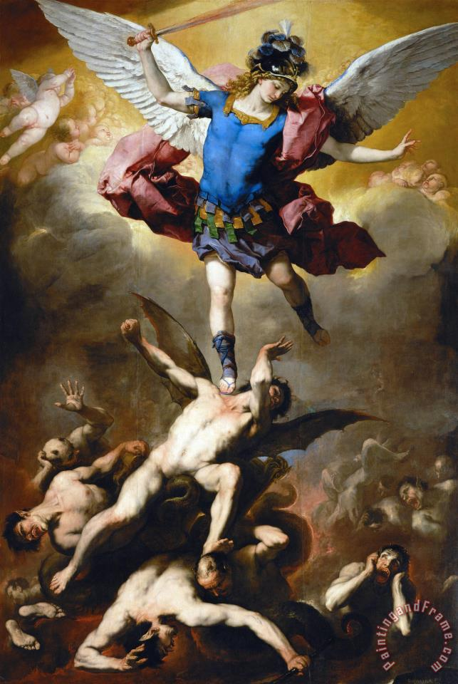 The Fall of The Rebel Angels painting - Luca Giordano The Fall of The Rebel Angels Art Print