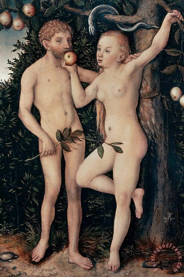 Adam And Eve painting - Lucas Cranach Elder Adam And Eve Art Print