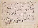 Score sheet of Moonlight Sonata by Ludwig van Beethoven