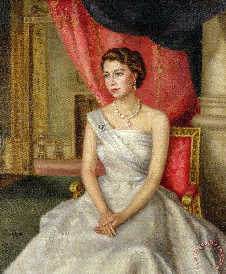 Lydia De Burgh Queen Elizabeth Ii Art Painting For Sale