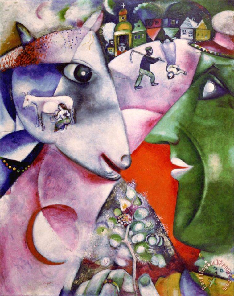 Marc Chagall I And The Village 1911 painting - I And The ...