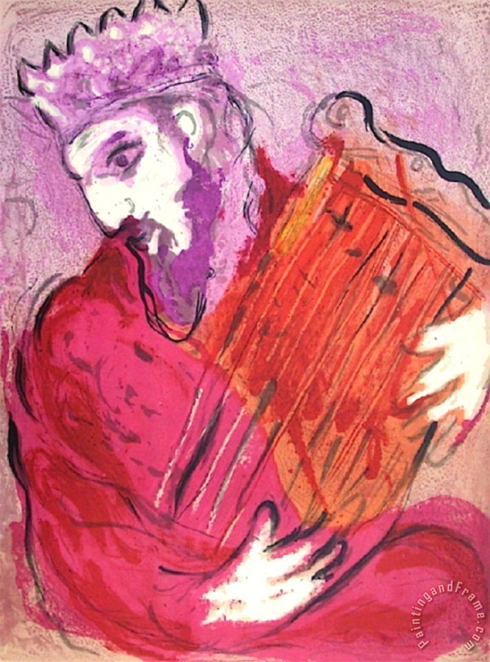 Marc Chagall Bible David A La Harpe Painting Bible David