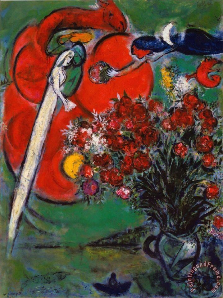 Marc Chagall Blumenstilleben St Jean Cap Ferrat 1956 ... Chagall Ferrat