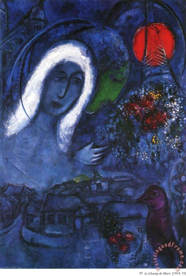 Marc Chagall Field Of Mars 1955 Painting Field Of Mars