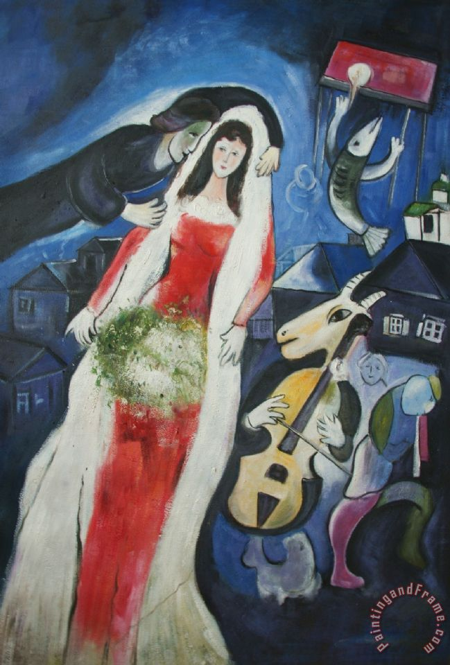 Marc Chagall La Mariee Painting La Mariee Print For Sale