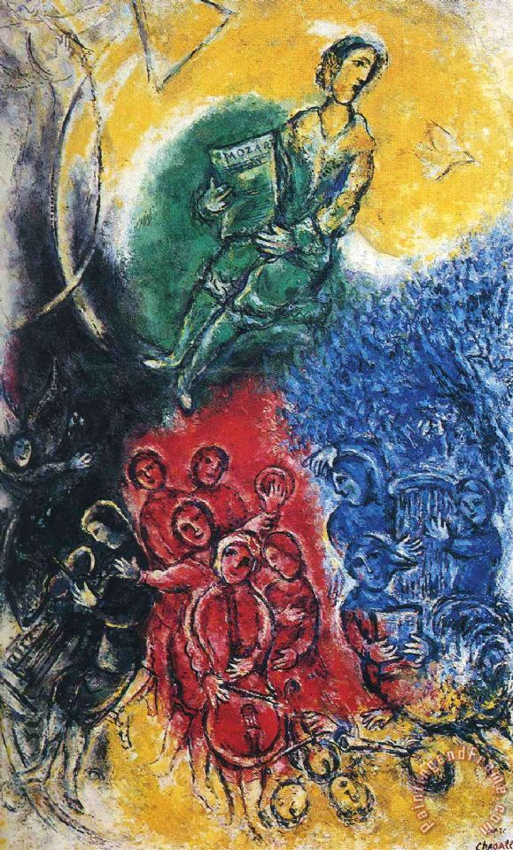 Marc Chagall Music 1963 Art Painting