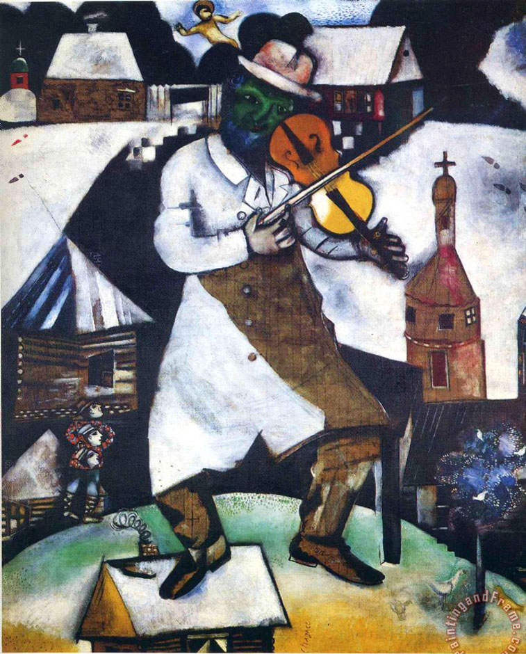Marc chagall the fiddler