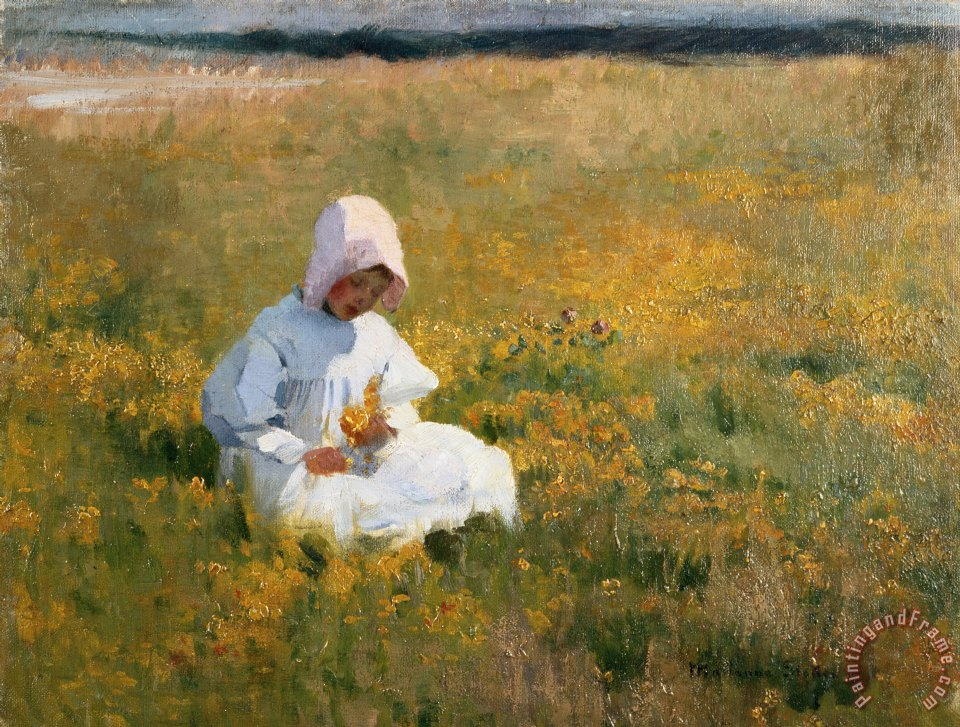 Marianne Stokes In a Field of Buttercups Art Print