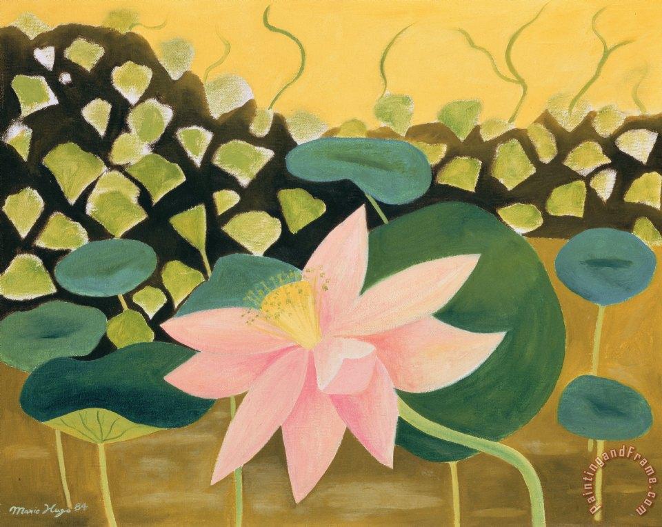 Marie hugo lotus flower painting lotus flower print for sale lotus flower painting marie hugo lotus flower art print mightylinksfo