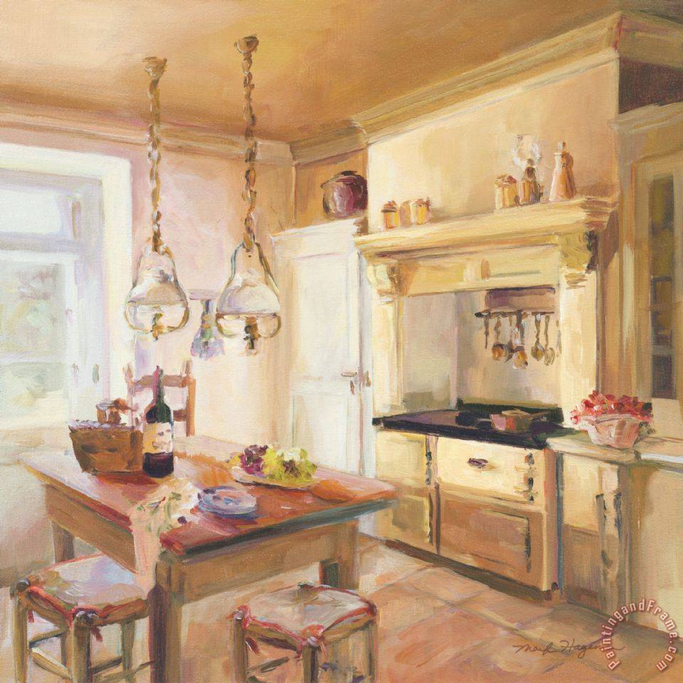 Marilyn hageman french kitchen ii painting french for French kitchen artwork