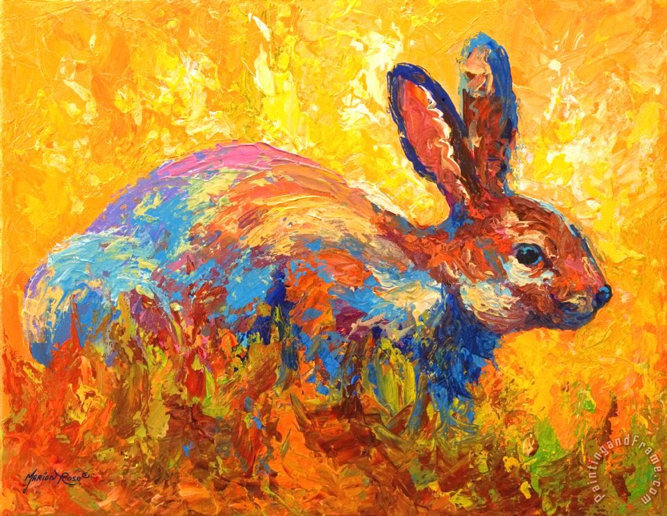 Forest Rabbit II painting - Marion Rose Forest Rabbit II Art Print