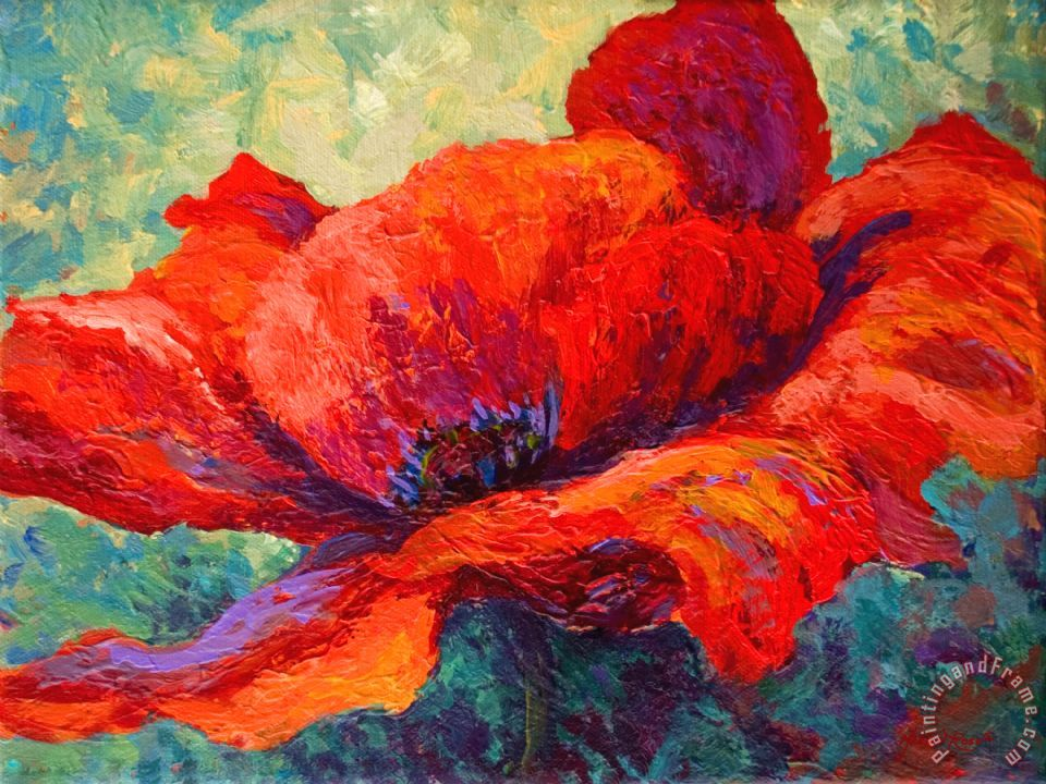 Red Poppy III painting - Marion Rose Red Poppy III Art Print