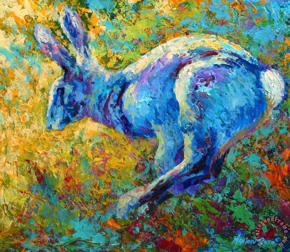 Marion Rose Running Hare Painting Running Hare Print For