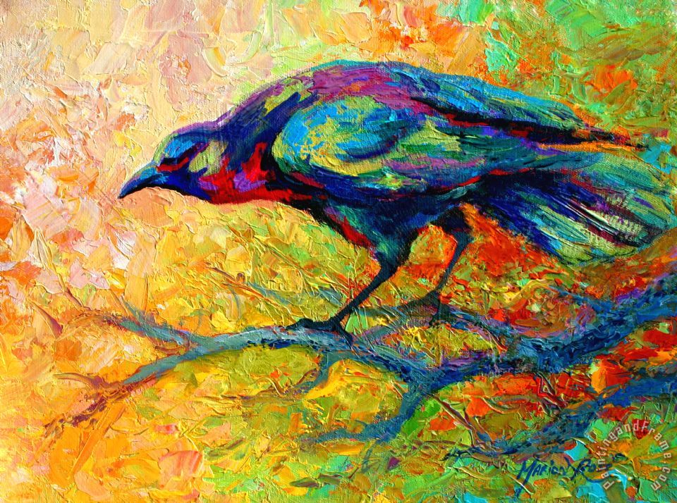 Tree Talk - Crow painting - Marion Rose Tree Talk - Crow Art Print