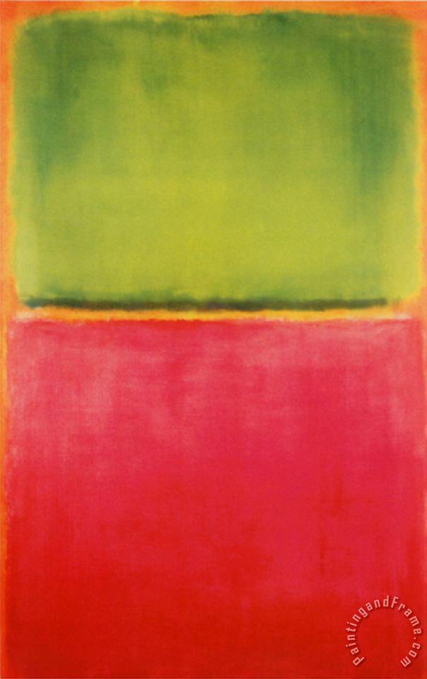 Mark Rothko Green Red On Orange Art Print For Sale