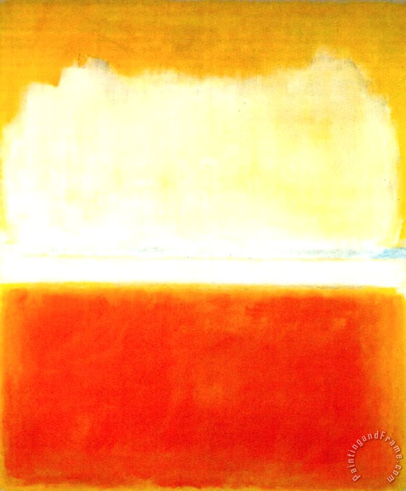 No 8 1952 painting - Mark Rothko No 8 1952 Art Print