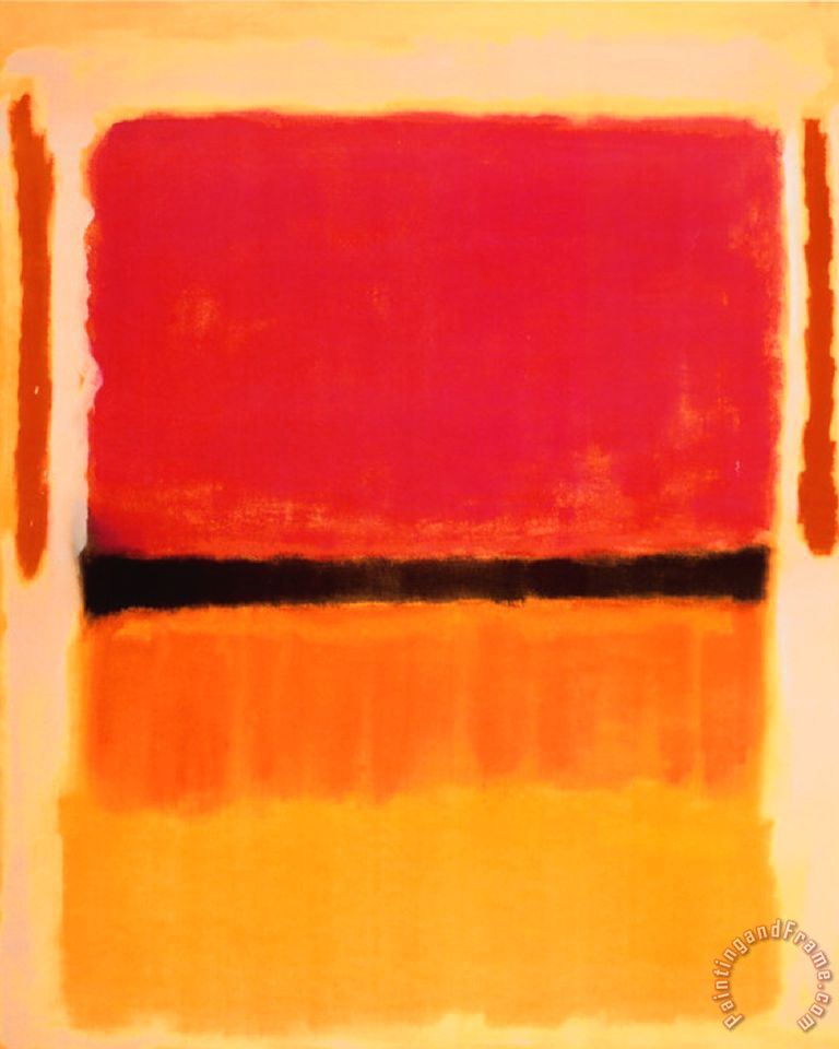 Untitled Violet Black Orange Yellow on White And Red 1949 painting - Mark Rothko Untitled Violet Black Orange Yellow on White And Red 1949 Art Print
