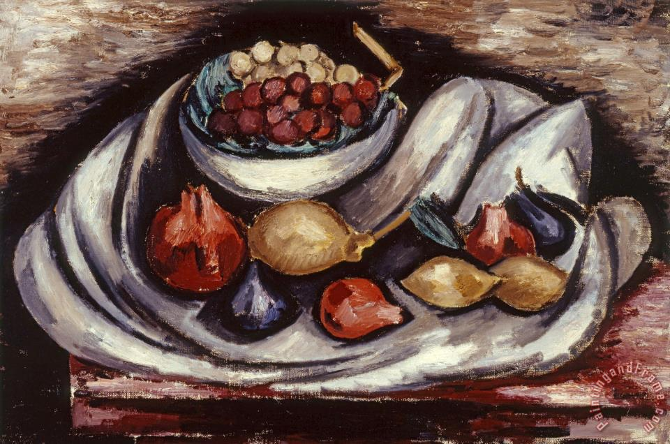 Still Life with Compote And Fruit painting - Marsden Hartley Still Life with Compote And Fruit Art Print
