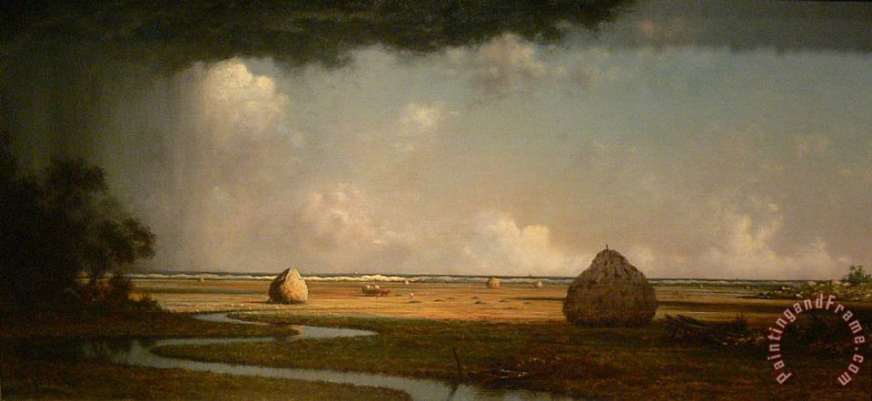 Martin Johnson Heade Marshfield Meadows, Massachusetts Art Print