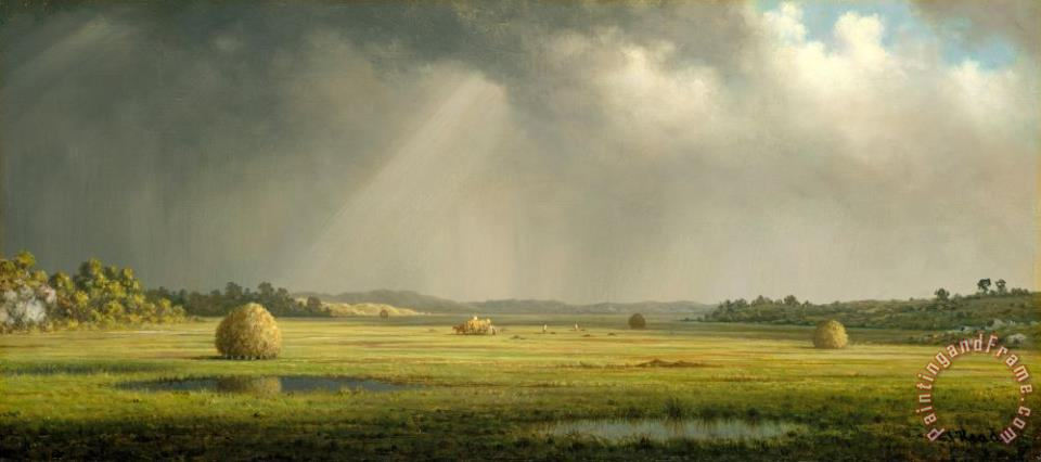 Martin Johnson Heade Newburyport Meadows Art Print