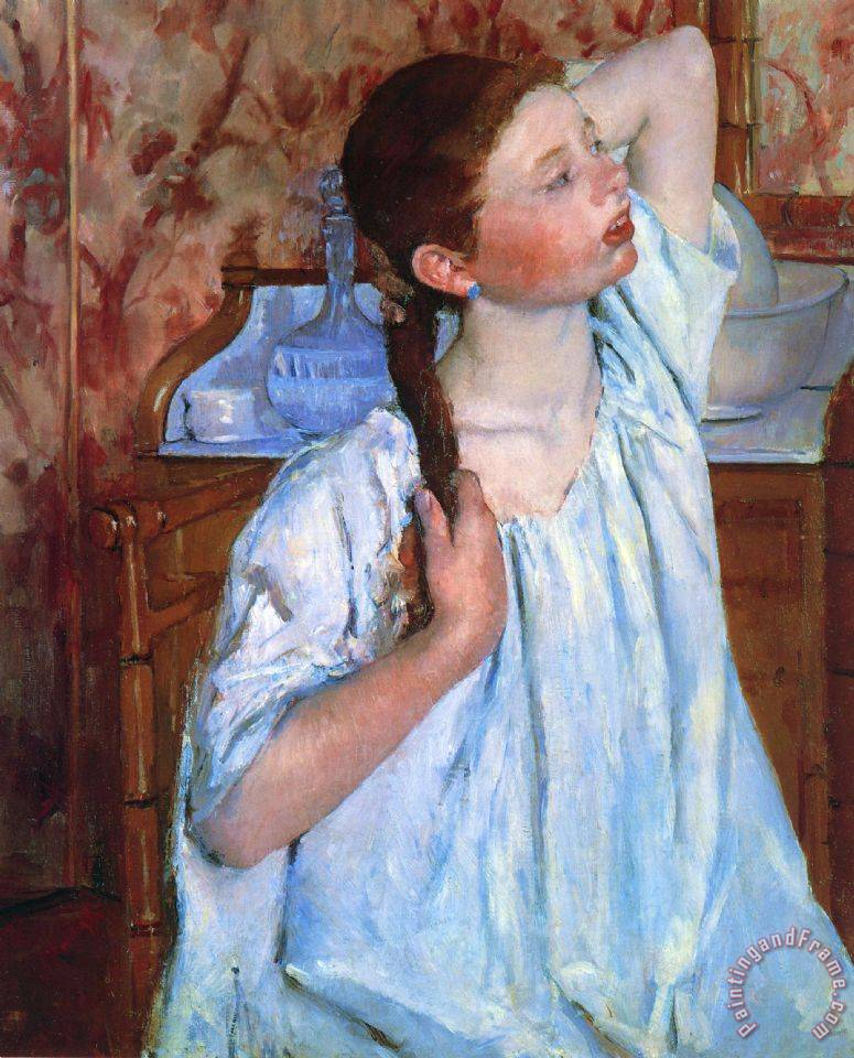 Mary Cassatt Girl Arranging Her Hair Art Painting