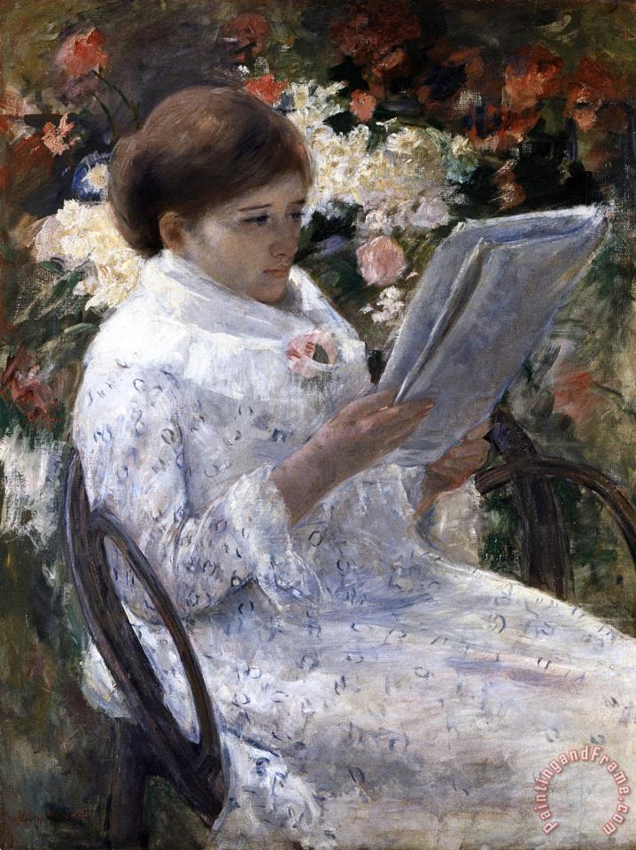 Mary Cassatt Woman Reading In A Garden Painting Woman
