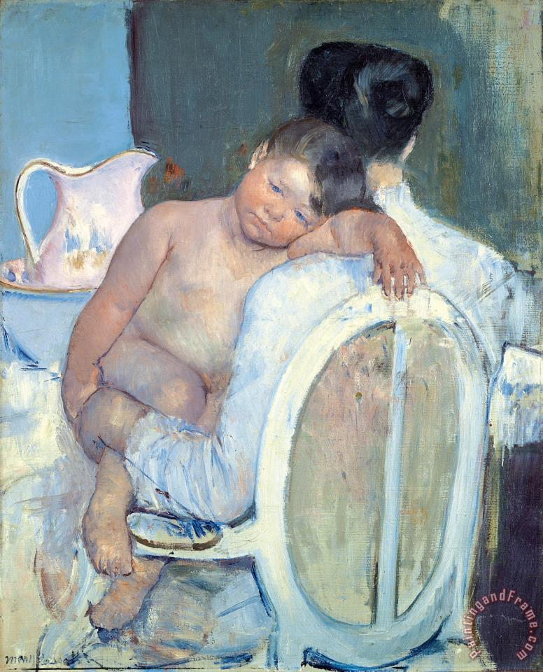 Woman Sitting with a Child in Her Arms painting - Mary Cassatt Woman Sitting with a Child in Her Arms Art Print
