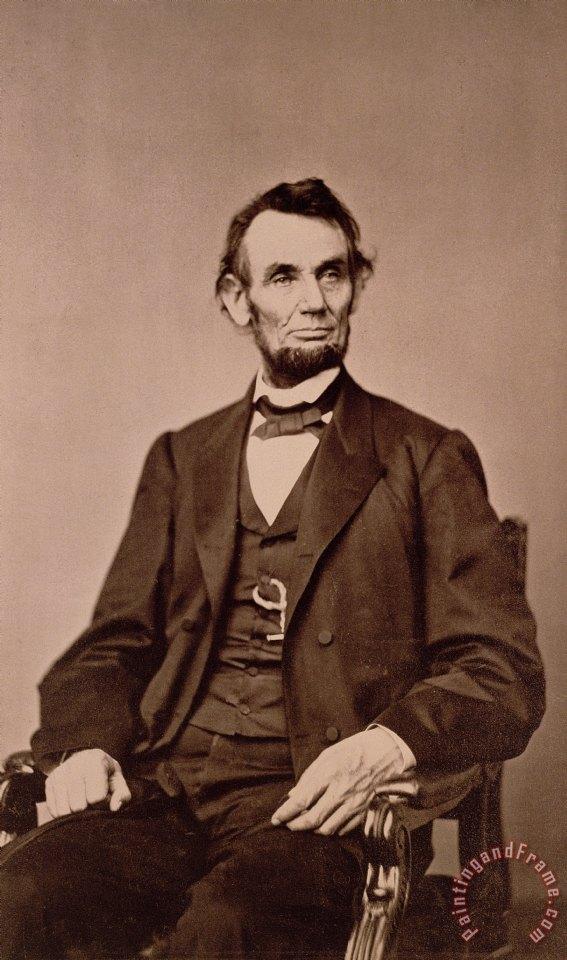 Mathew Brady Portrait of Abraham Lincoln painting ...