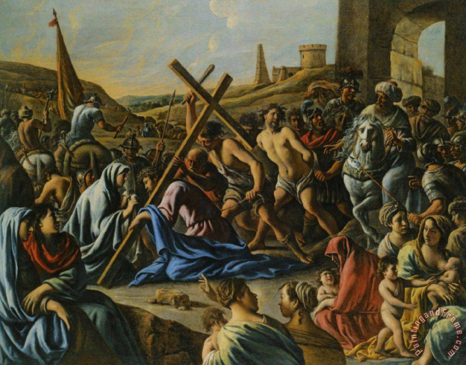 Jesus Carrying The Cross Painting Carrying The Cross Pic...