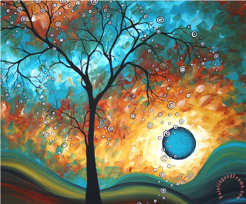 megan aroon duncanson aqua burn painting aqua burn print for sale. Black Bedroom Furniture Sets. Home Design Ideas