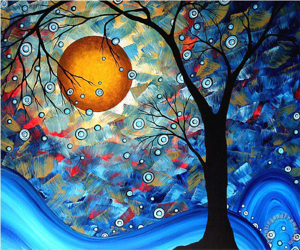 Blue Essence painting - Megan Aroon Duncanson Blue Essence Art Print