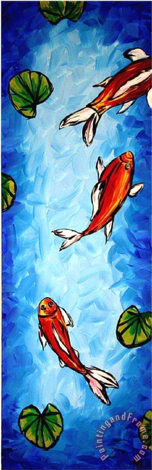 Megan aroon duncanson koi delight painting koi delight for Koi prints for sale
