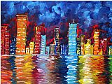 Megan Aroon Duncanson Prints - City Nights by Megan Aroon Duncanson