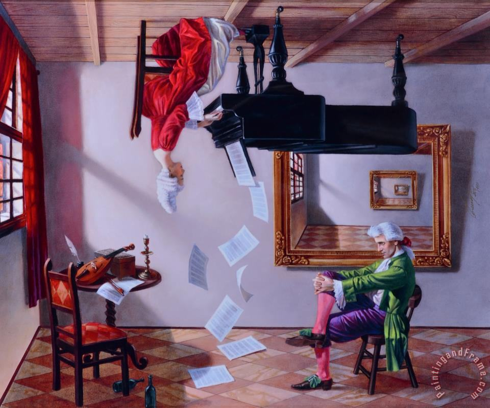 Discord of Analogy painting - Michael Cheval Discord of Analogy Art Print