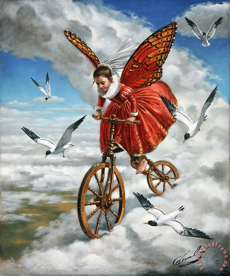 Down to Earth painting - Michael Cheval Down to Earth Art Print