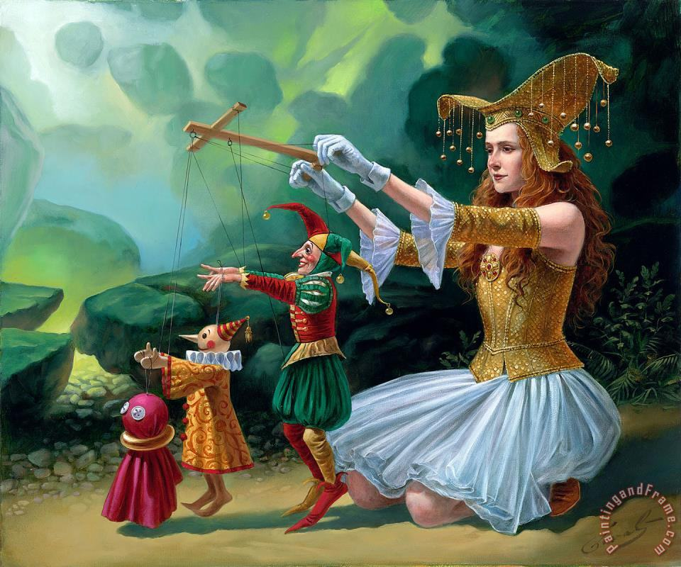 Evolution painting - Michael Cheval Evolution Art Print