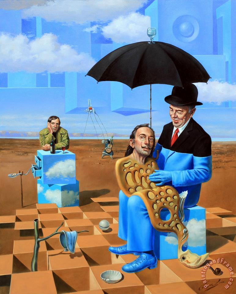 Lullaby of Uncle Magritte painting - Michael Cheval Lullaby of Uncle Magritte Art Print