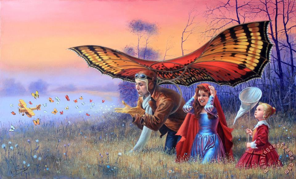 Promises of The Parting Summer painting - Michael Cheval Promises of The Parting Summer Art Print