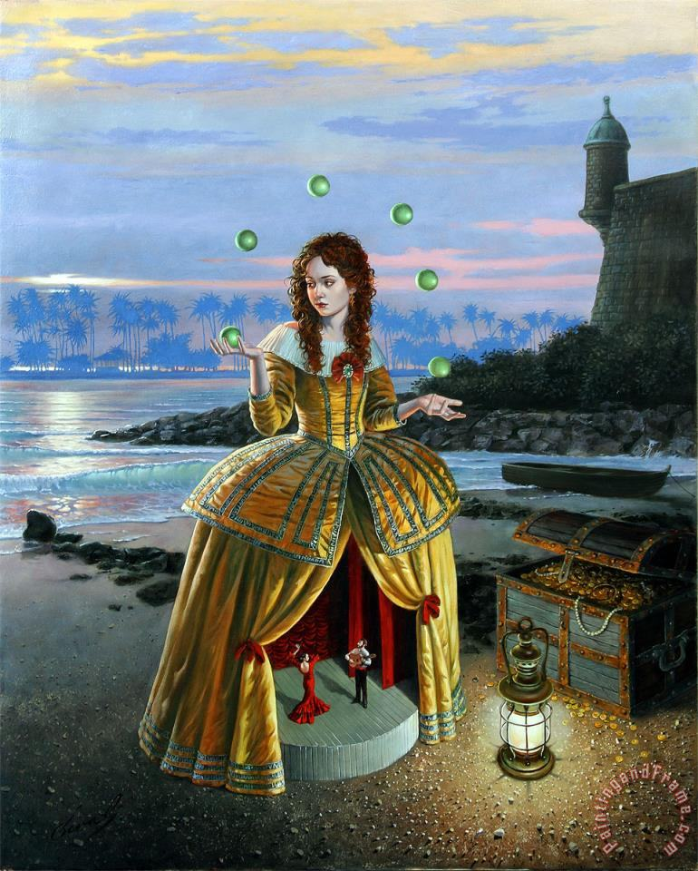 Showtime painting - Michael Cheval Showtime Art Print