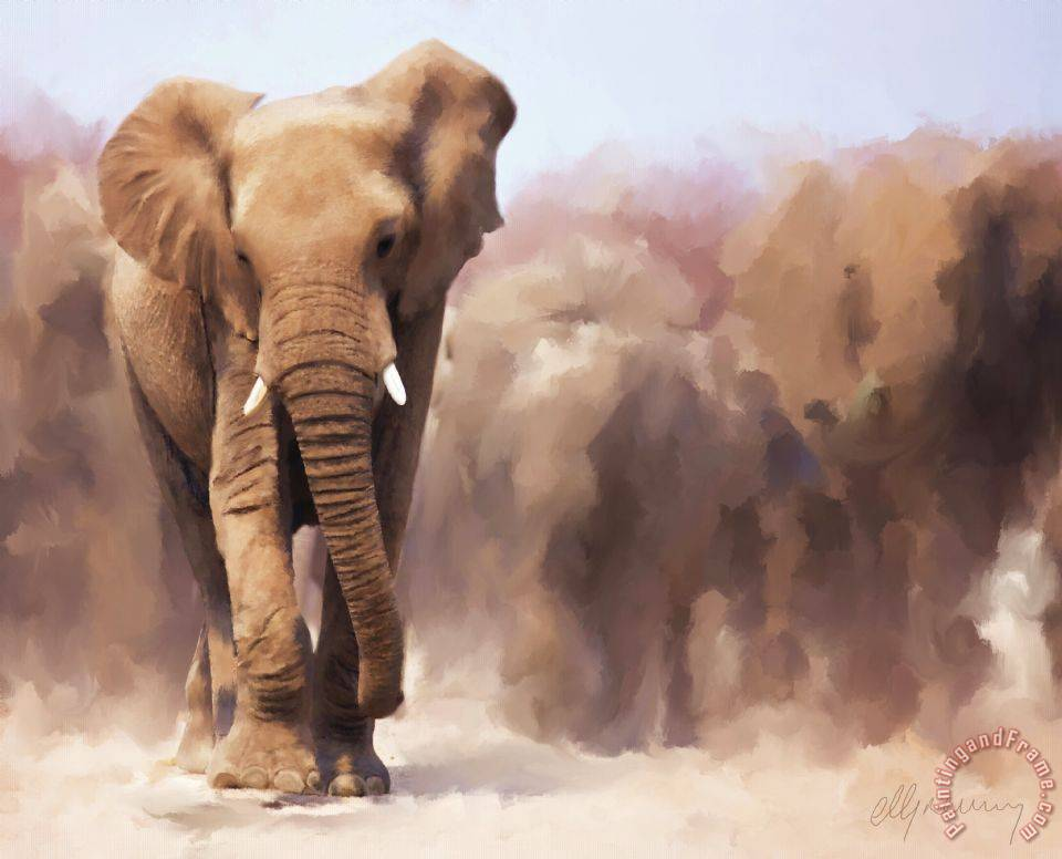 Elephant Family Canvas Painting