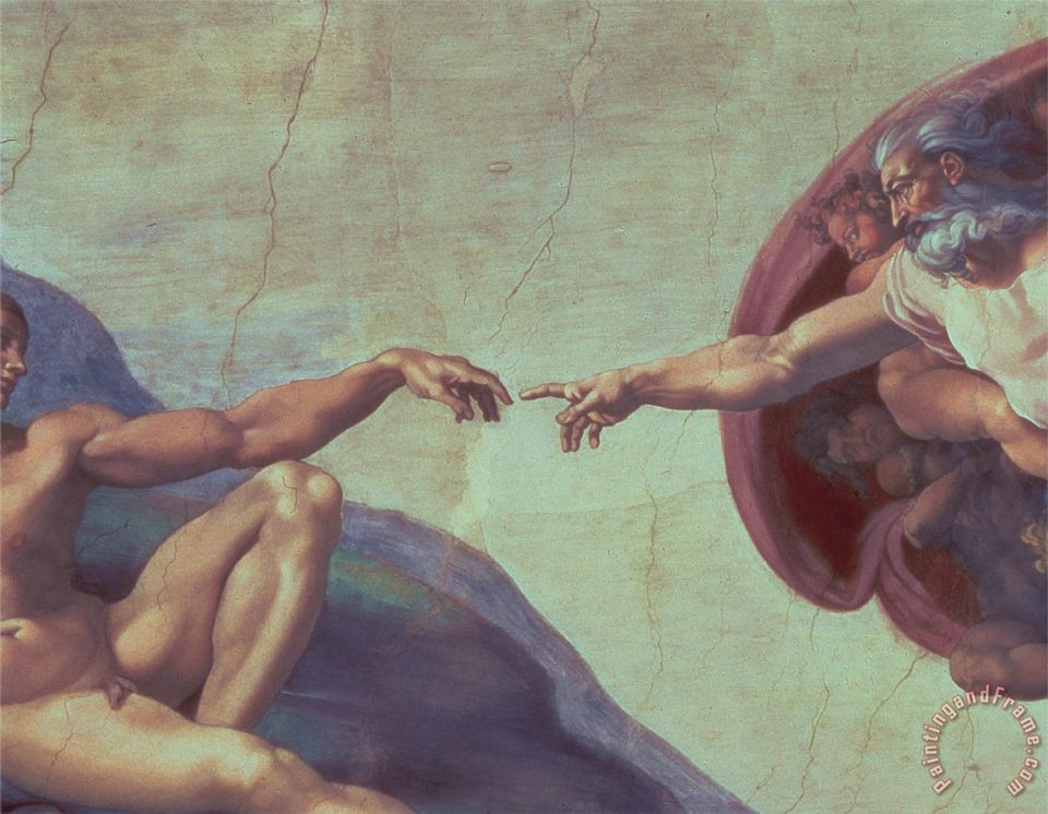 38c488a4548c Sistine Chapel Ceiling Creation of Adam Detail of The Outstretched Arms  1510 painting - Michelangelo Buonarroti